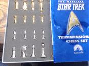 FRANKLIN MINT Game START TREK TRIDEMENSIONAL CHESS SET